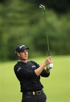 LUSS, UNITED KINGDOM - JULY 10:  Henrik Stenson of Sweden hits an approach shot during the First Round of The Barclays Scottish Open at Loch Lomond Golf Club on July 10, 2008 in Luss, Scotland.  (Photo by Warren Little/Getty Images)