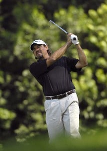 SILVIS, IL - JULY 12:  Carlos Franco during the first round of The John Deere Classic at the TPC Deere Run on July 12, 2007 in Silvis, Illinois.  (Photo by Marc Feldman/WireImage) *** Local Caption ***  Carlos Franco PGA - John Deere Classic - First RoundPhoto by Marc Feldman/WireImage) *** Local Caption ***  Carlos Franco