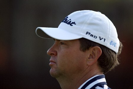 ORLANDO, FL - MARCH 13:  Davis Love III of the USA, wearing on his cap the name of 'Eve' in honour of a friend who was murdered in Georgia recently, leaves the tee at the 4th hole during the first round of the 2008 Arnold Palmer Invitational presented by Mastercard at the Bay Hill Golf Club and Lodge, on March 13, 2008 in Orlando, FL.  (Photo by David Cannon/Getty Images)