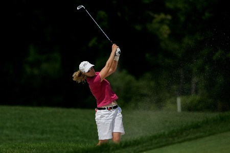 NEW ROCHELLE, NY - JULY 20: Sherri Steinhauer plays her second shot on the nineth hole during the second round of the HSBC Women's World Match Play Championship at Wykagyl Country Club on July 20, 2007 in New Rochelle, New York.  (Photo by Chris McGrath/Getty Images)