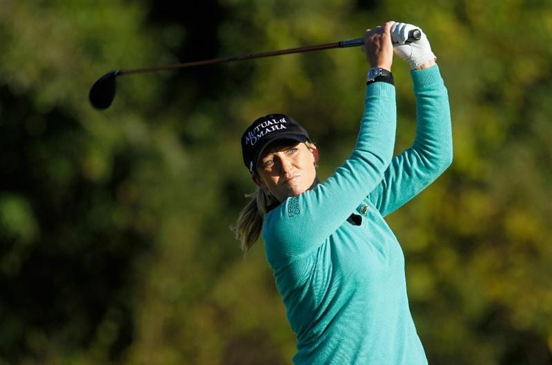 ORLANDO, FL - DECEMBER 04:  Cristie Kerr hits her tee shot on 13th hole during the third round of the LPGA Tour Championship at the Grand Cypress Resort on December 4, 2010 in Orlando, Florida.  (Photo by Scott Halleran/Getty Images)