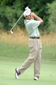 Len Mattiace plays from the 16th fairway during the second round of the 2005 Cialis Western Open at Cog Hill Golf and Country Club in Lemont, Illinois on Friday, July 1, 2005.Photo by Al Messerschmidt/WireImage.com
