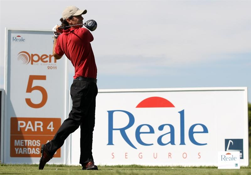 BARCELONA, SPAIN - MAY 06:  Thomas Aiken of South Africa during the second round of the Open de Espana at the the Real Club de Golf El Prat on May 6 , 2011 in Barcelona, Spain.  (Photo by Ross Kinnaird/Getty Images)