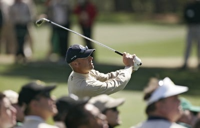 Brett Wetterich during the third round of the 2007 Masters at the Augusta National Golf Club in Augusta, Georgia, on April 7, 2007. The 2007 Masters - Third RoundPhoto by Sam Greenwood/WireImage.com