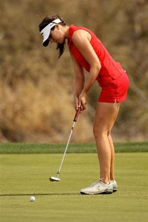 PHOENIX, AZ - MARCH 18:  Sandra Gal of Germany putts on the 16th hole during the first round of the RR Donnelley LPGA Founders Cup at Wildfire Golf Club on March 18, 2011 in Phoenix, Arizona.  (Photo by Stephen Dunn/Getty Images)