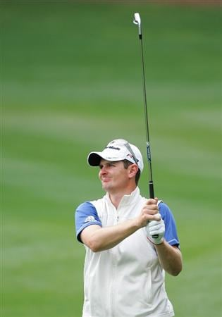 PALM HARBOR, FL - MARCH 21:  Justin Rose of England watches his second shot on the first hole during the final round of the Transitions Championship at the Innisbrook Resort and Golf Club on March 21, 2010 in Palm Harbor, Florida.  (Photo by Michael Cohen/Getty Images)
