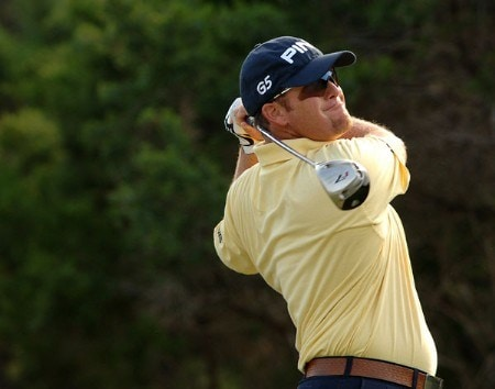 D.A. Points in action during the second round of the 2005 Valero Texas Open at La Cantera in at La Cantera Country Club in San Antonio, Texas September 23, 2005.Photo by Steve Grayson/WireImage.com