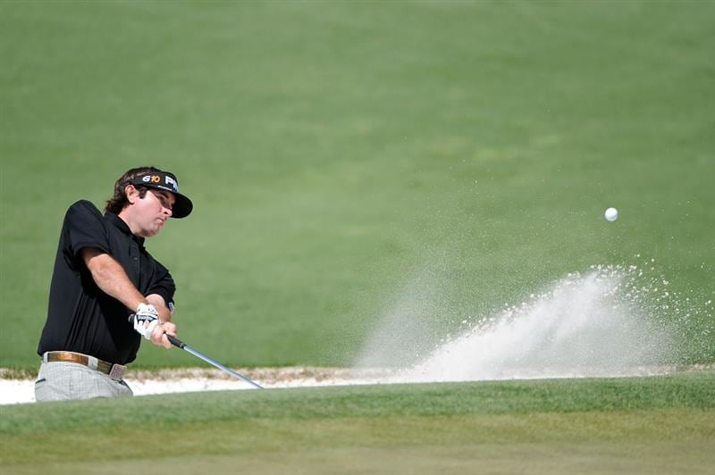 AUGUSTA, GA - APRIL 09:  Bubba Watson plays a bunker shot on the second hole during the first round of the 2009 Masters Tournament at Augusta National Golf Club on April 9, 2009 in Augusta, Georgia.  (Photo by Harry How/Getty Images)