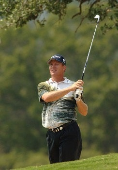 Woody Austin in action during the second round of the 2005 Valero Texas Open at La Cantera in at La Cantera Country Club in San Antonio, Texas September 23, 2005.Photo by Steve Grayson/WireImage.com