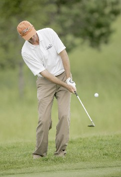 Roger Tambellini on the 9th hole during the second round of the 2005 LaSalle Bank Open at the The Glen Club in Glenview, Illinois on June 10, 2005.Photo by Mike Ehrmann/WireImage.com