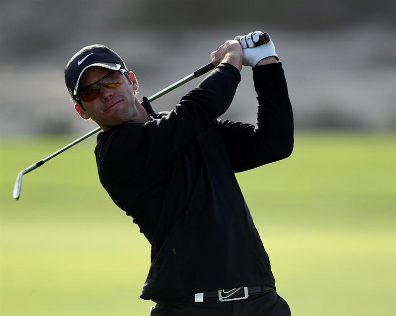 DOHA, QATAR - FEBRUARY 03:  Paul Casey of England during the first round of the Commercialbank Qatar Masters at the Doha Golf Club on February 3, 2011 in Doha, Qatar.  (Photo by Ross Kinnaird/Getty Images)