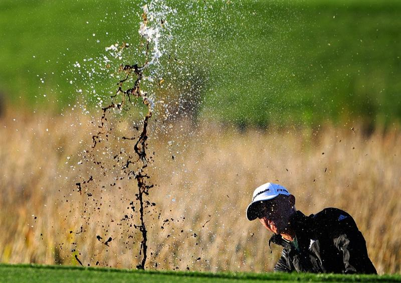 PALM BEACH GARDENS, FL - MARCH 07:  Nathan Green of Australia plays a shot on the 17th hole during the final round of the Honda Classic at PGA National Resort And Spa on March 7, 2010 in Palm Beach Gardens, Florida.  (Photo by Sam Greenwood/Getty Images)