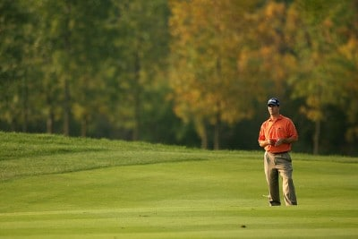 Charles Warren waits to hit on the 17th hole during the third round of the Turning Stone Resort Championship at Atunyote Golf Club, September 22, 2007 in Verona, New York. PGA TOUR - 2007 Turning Stone Resort Championship - Third RoundPhoto by Mike Ehrmann/WireImage.com