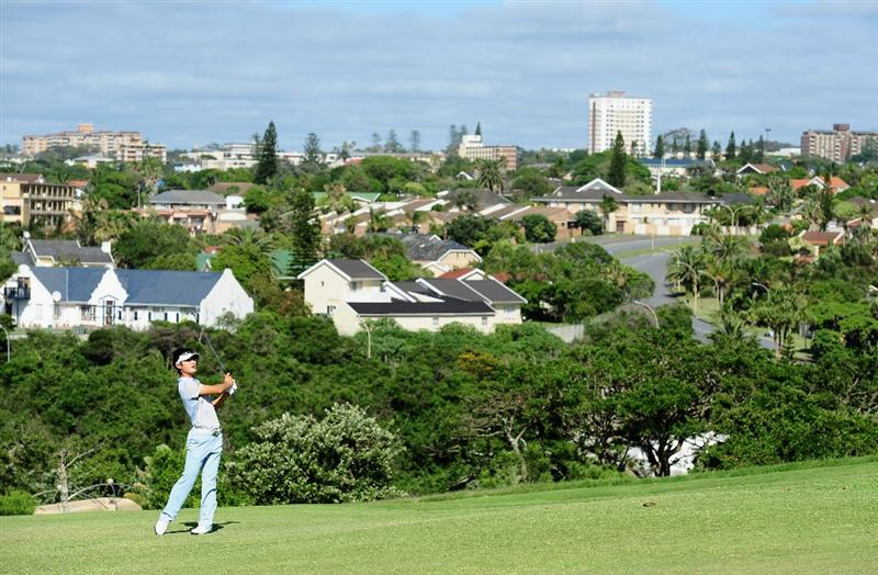 EAST LONDON, SOUTH AFRICA - JANUARY 07:  Danny Lee of New Zealand plays his approach shot on the 13th hole during the first round of the Africa Open at the East London Golf Club on January 7, 2010 in East London, South Africa.  (Photo by Stuart Franklin/Getty Images)