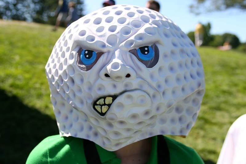 Scary golf mask