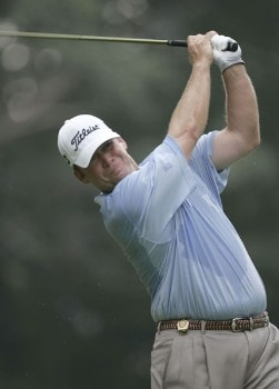 Dudley Hart on the third tee during the final round of the 2005 PGA Championship at Baltusrol Golf Club in Springfield, New Jersey on August 14, 2005.Photo by Christopher Condon/WireImage.com