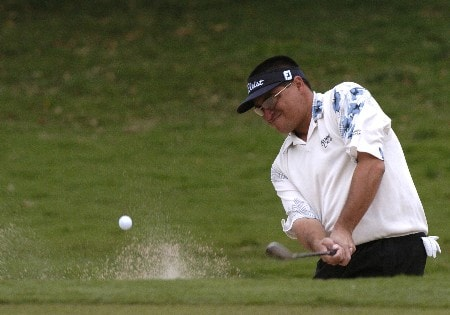 Robert Gamez competes in first-round competition March 3, 2005  at the Ford Championship at Doral in Miami.