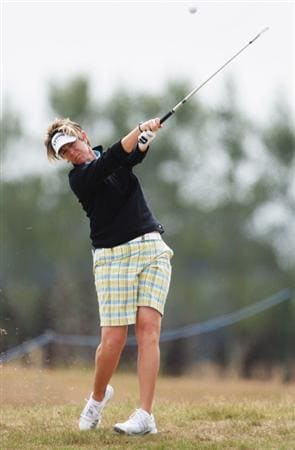 CHRISTCHURCH, NEW ZEALAND - JANUARY 30:  Beth Bader of the U.S. plays a fairway shot during day one of the New Zealand Women's Open held at Clearwater Golf Club January 30, 2009 in Christchurch, New Zealand.  (Photo by Sandra Mu/Getty Images)