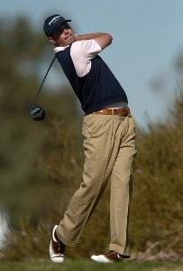 Mark Hensby hits from the ninth tee on the South Course during the first round of the 2007 Buick Invitational at Torrey Pines Golf Course in La Jolla, California on January 25, 2007 PGA TOUR - 2007 Buick Invitational - First RoundPhoto by Steve Grayson/WireImage.com