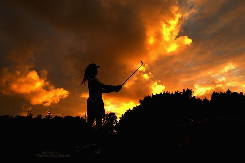 GOLD COAST, AUSTRALIA - MARCH 05:  Danielle Bowers of England warms up on the practice range at sunrise during round two of the 2010 ANZ Ladies Masters at Royal Pines Resort on March 5, 2010 in Gold Coast, Australia.  (Photo by Ryan Pierse/Getty Images)