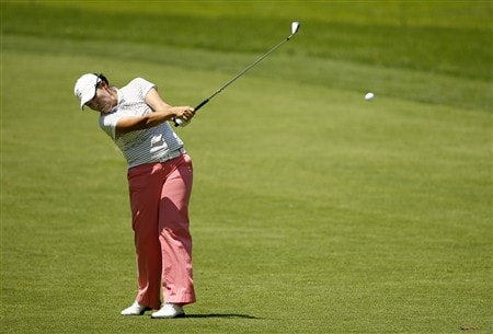 ROCHESTER, NY - JUNE 21: Jimin Jeong of Korea hits her second shot on the 6th hole during the third round of the Wegmans LPGA at Locust Hill Country Club on June 21, 2008 in Rochester, New York. (Photo by Hunter Martin/Getty Images)
