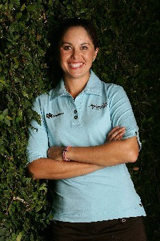 SUPERSTITION MOUNTAIN, AZ - MARCH 20:  LPGA player Stacy Prammanasudh poses prior to the start of the Safeway International at the Superstition Mountain Golf and Country Club March 20, 2007 in Superstition Mountain, Arizona.  (Photo by Scott Halleran/Getty Images)