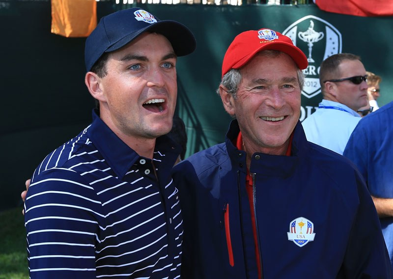 Keegan Bradley and President George W. Bush