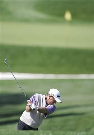 TIMONIUM, MD - OCTOBER 01:  Fred Funk plays a shot from the fairway during the first round of the Constellation Energy Senior Players Championship at Baltimore Country Club/Five Farms (East Course) held on October 1, 2009 in Timonium, Maryland  (Photo by Michael Cohen/Getty Images)