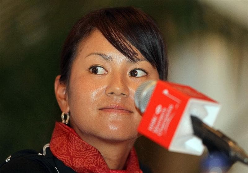 SINGAPORE - FEBRUARY 23:  Ai Miyazato of Japan attends a photocall at the Raffles Hotel prior to the HSBC Women's Champions at Tanah Merah Country Club on February 23, 2010 in Singapore, Singapore.  (Photo by Andy Lyons/Getty Images)