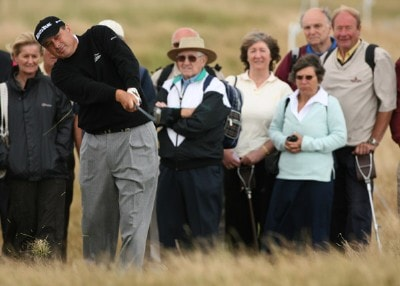 Loren Roberts (US) during the final round of the 2006 Senior British Open at the Westin Turnberry resort in Ayrshire, Scotland on July 30, 2006.Photo by Matthew Harris/WireImage.com