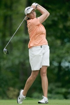 Wendy Ward in action during the third round of the 2005 Wendy's Championship for Children at the Tartan Fields Golf Club in Dublin, Ohio on Saturday August 27, 2005.Photo by Hunter Martin/WireImage.com