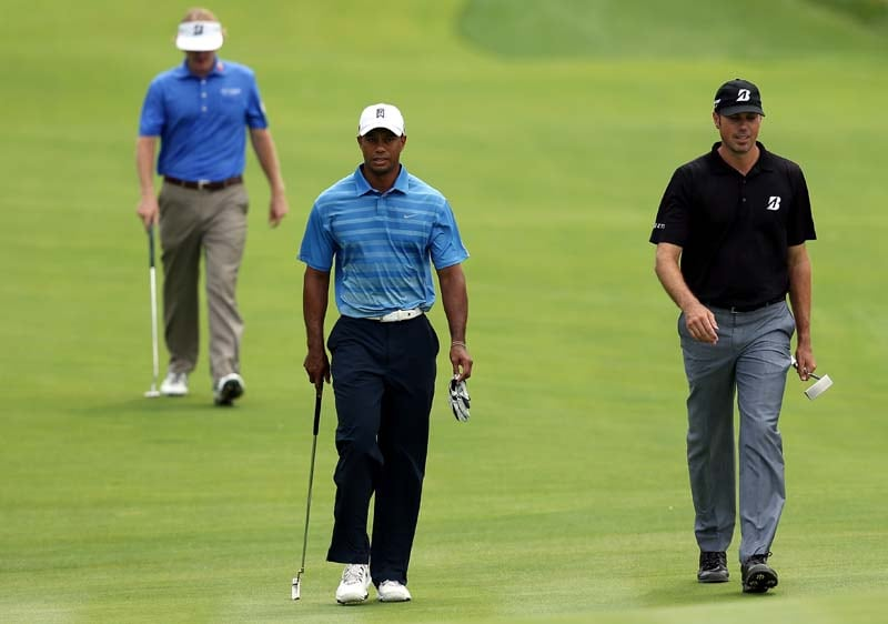 Tiger Woods, Matt Kuchar and Brandt Snedeker
