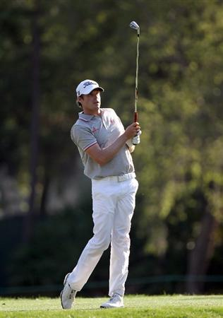 PALM HARBOR, FL - MARCH 18:  Nick Watney plays a shot on the 17th hole during the second round of the Transitions Championship at Innisbrook Resort and Golf Club on March 18, 2011 in Palm Harbor, Florida.  (Photo by Sam Greenwood/Getty Images)