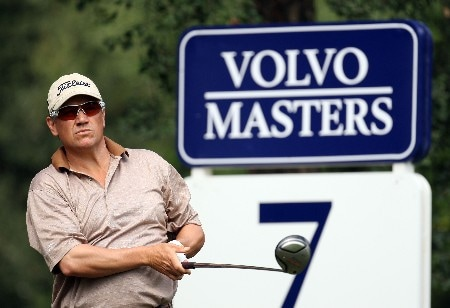 SOTOGRANDE, SPAIN - NOVEMBER 02:  Peter O'Malley of Australia on the on the par four 7th hole during the second round of the Volvo Masters at the Valderrama Golf Club on November 2, 2007 in Sotogrande, Spain.  (Photo by Ross Kinnaird/Getty Images)