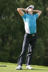 Will MacKenzie reacts to his missed tee shot during the third round of the Mercedes-Benz Championship held on the Plantation Course at Kapalua in Kapalua, Maui, Hawaii, on January 6, 2007. Photo by: Stan Badz/PGA TOURPhoto by: Stan Badz/PGA TOUR