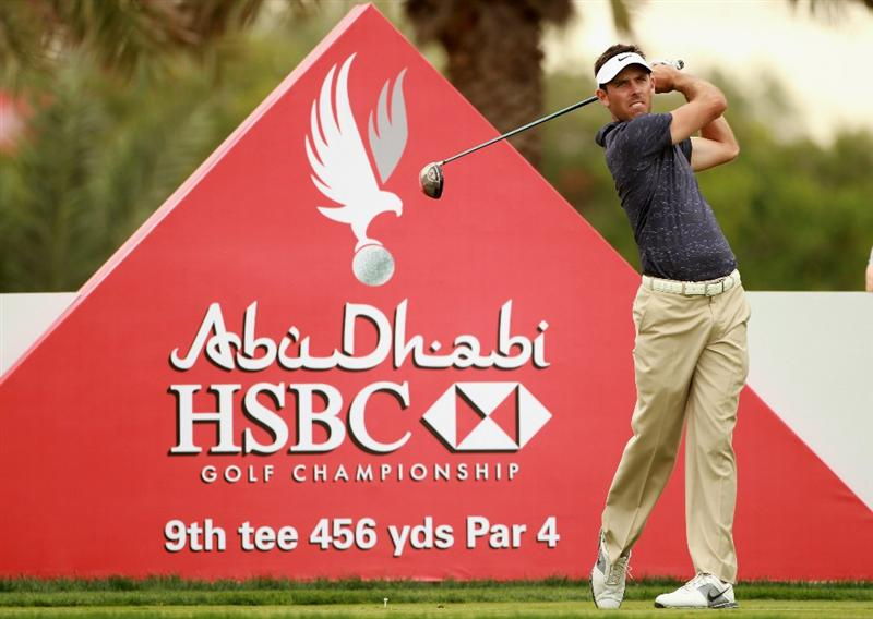 ABU DHABI, UNITED ARAB EMIRATES - JANUARY 20:  Charl Schwartzel of South Africa hits his tee-shot on the ninth hole during the first round of The Abu Dhabi HSBC Golf Championship at Abu Dhabi Golf Club on January 20, 2011 in Abu Dhabi, United Arab Emirates.  (Photo by Andrew Redington/Getty Images)