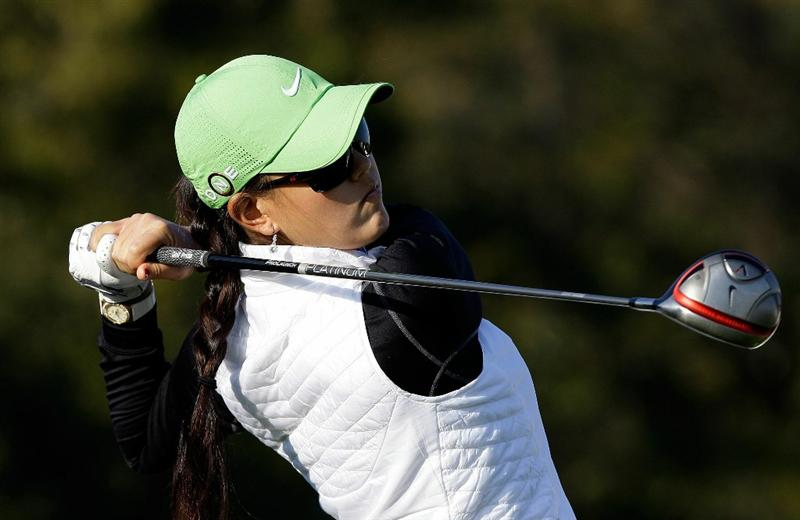 INCHEON, SOUTH KOREA - OCTOBER 29:  Michelle Wie of United States hits a tee shot on the 3rd hole during the 2010 LPGA Hana Bank Championship at Sky 72 golf club on October 29, 2010 in Incheon, South Korea.  (Photo by Chung Sung-Jun/Getty Images)