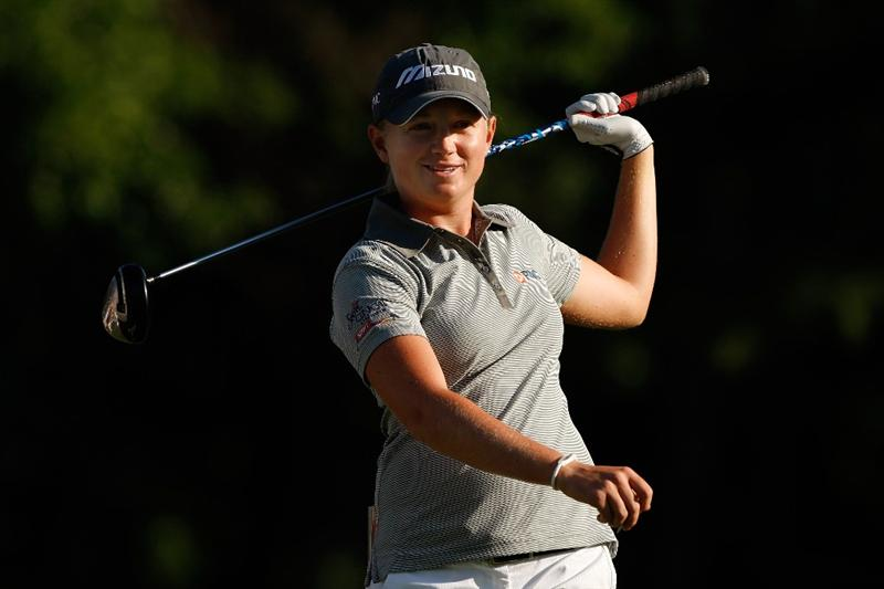 BETHLEHEM, PA - JULY 09:  Stacy Lewis swings her club during the first round of the 2009 U.S. Women's Open at Saucon Valley Country Club on July 9, 2009 in Bethlehem, Pennsylvania.  (Photo by Streeter Lecka/Getty Images)