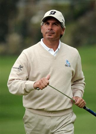 PACIFIC PALISADES, CA - FEBRUARY 19:  Fred Couples reacts to his missed putt for birdie on the 18th hole during the third round of the Northern Trust Open at the Riviera Contry Club on February 19, 2011 in Pacific Palisades, California.  (Photo by Harry How/Getty Images)