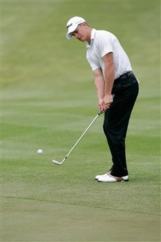 GLENVIEW, IL - MAY 30: Stephen Dartnall putts during Round 2 of the Bank of America Open at The Glen Club on May 30, 2008 in Glenview, Illinois. (Photo by Scott Boehm/Getty Images)