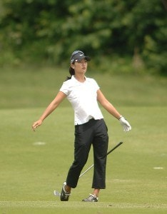 Grace Park in action during the third round of the 2006 Franklin American Mortgage Championship benefiting the Monroe Carell Jr. Children's Hospital at Vanderbilt at Vanderbilt Legends Club in Franklin, Tennessee on May 5, 2006.Photo by Steve Grayson/WireImage.com