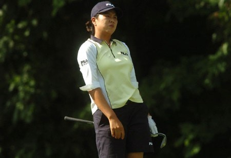 Hee-Won Han in action during the first round of the LPGA's Wendy's Championship For Children at Tartan Fields Golf Club in Dublin, Ohio August 25, 2005.Photo by Steve Grayson/WireImage.com