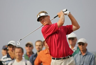 John Senden during the first round of the 135th Open Championship at Royal Liverpool Golf Club in Hoylake, Great Britain on July 20, 2006.Photo by Sam Greenwood/WireImage.com