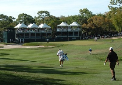 Mark Calcavecchia walks the 14th fairway  during the final round of the  PODS Championship at Innisbrook Resort and Golf Club in Palm Harbor, Florida on March 11, 2007. Photo by Al Messerschmidt/WireImage.com