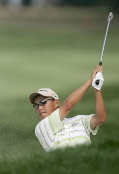 Toru Taniguchi during the second round of the 2005 PGA Championship at Baltusrol Golf Club in Springfield, New Jersey on August 12, 2005.Photo by Hunter Martin/WireImage.com