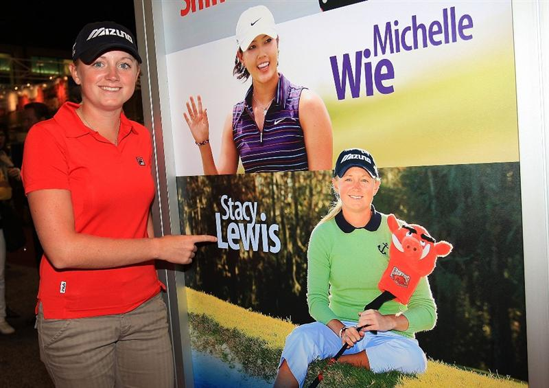 ORLANDO, FL - JANUARY 30:  LPGA player Stacy Lewis poses for a photo at the 2009 PGA Merchandise Show at the Orange County Convertion Center on January 30, 2009 in Orlando, Florida.  (Photo by Scott Halleran/Getty Images)