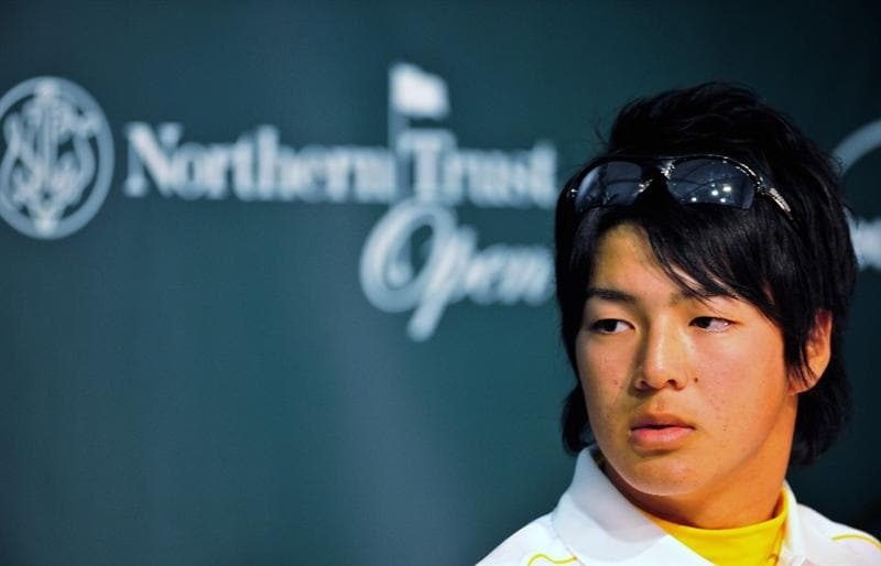 PACIFIC PALISADES, CA - FEBRUARY 17:  Ryo Ishikawa of Japan attends a press conference after practice of the Northern Trust Open at the Riviera Country Club February 17, 2009 in Pacific Palisades, California.  (Photo by Stuart Franklin/Getty Images)