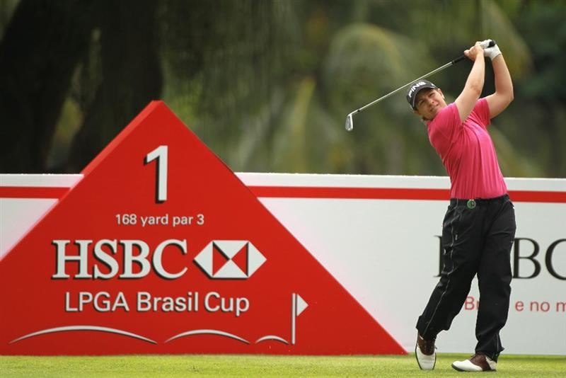 RIO DE JANEIRO, BRAZIL - MAY 29:  Heather Bowie Young of the USA hits her tee shot on the first hole during the final round of the HSBC LPGA Brazil Cup at the Itanhanga Golf Club on May 29, 2011 in Rio de Janeiro, Brazil.  (Photo by Scott Halleran/Getty Images)