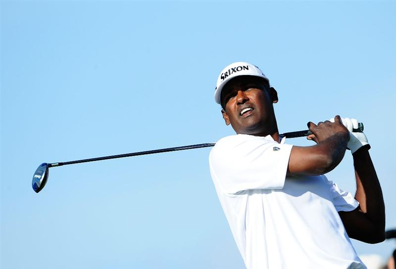 PALM BEACH GARDENS, FL - MARCH 07:  Vijay Singh of Fiji plays a shot on the 11th hole during the final round of the Honda Classic at PGA National Resort And Spa on March 7, 2010 in Palm Beach Gardens, Florida.  (Photo by Sam Greenwood/Getty Images)