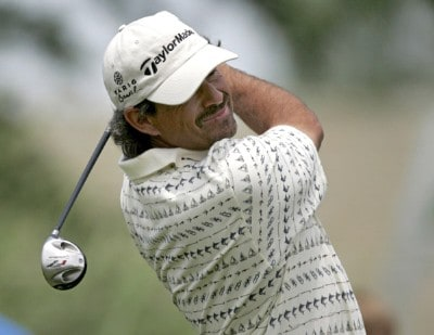Carlos Franco during the final round of the Zurich Classic of New Orleans at the English Turn Golf & Country Club in New Orleans, Louisiana on April 30, 2006.Photo by Gregory Shamus/WireImage.com